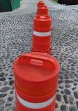 Baricades da construção Foto de Stock Royalty Free