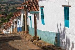Barichara哥伦比亚殖民地居民房子 库存照片