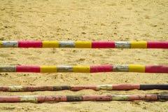 Bariera przy końskim biegowym śladem Fotografia Royalty Free