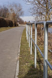 Bariers obok rower drogi Zdjęcie Royalty Free