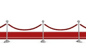 bariery arkana dywanowa czerwona Fotografia Royalty Free
