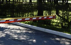 Bariery bramy Automatyczny system dla ochrony obraz stock