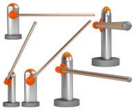 bariery bramy set Fotografia Royalty Free