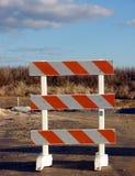 bariery budowy znak drogowy alarm ruchu Obraz Royalty Free