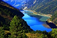 bariery jezioro Tyrol Zdjęcia Royalty Free