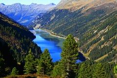 bariery jezioro Tyrol Fotografia Royalty Free