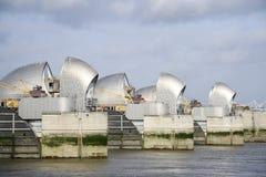 bariery London rzeka Thames Zdjęcie Royalty Free