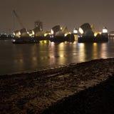 bariery noc Thames Zdjęcie Stock