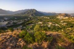 Barikot Swat Pakistan. Aerial view of landscape of Barikot village in Swat Pakistan stock image