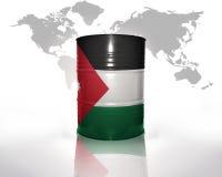Baril avec le drapeau de la Jordanie illustration stock