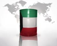 Baril avec le drapeau du Kowéit Image stock