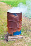 Baril brûlant Images stock