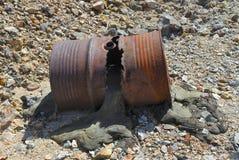 Baril de cambouis Image libre de droits