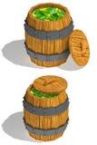 Baril de concombres Image stock