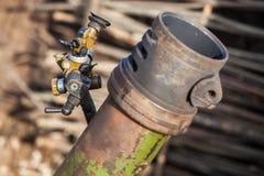 Baril de mortier avec des vues images stock
