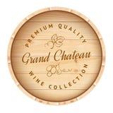 Baril en bois avec le label de vigne Photo libre de droits