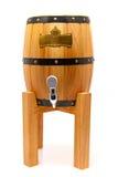 Baril en bois pour la bière sur un support Photographie stock