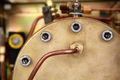 Baril en laiton de vapeur Image stock