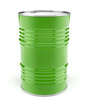 Baril en métal pour le stockage de pétrole ou d'essence Photo stock