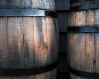 Baril noir en bois Photo libre de droits