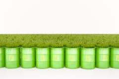 Baril vert de bio carburant Images libres de droits