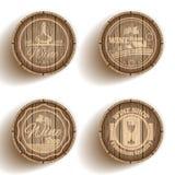 Barile dell'etichetta del vino Fotografia Stock