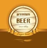 Barile di birra per l'etichetta, pacchetto Immagini Stock
