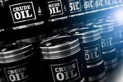 Barili da olio neri 3D illustrazione di stock