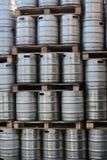 Barili dei barilotti di birra Fotografia Stock Libera da Diritti