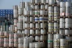 Barili dei barilotti di birra Fotografia Stock
