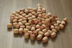 Barili di legno del lotto fotografia stock libera da diritti