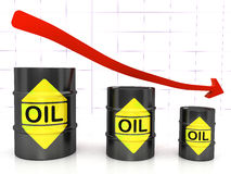 Barili di petrolio Fotografie Stock Libere da Diritti