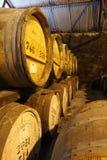 Barili di whisky Fotografie Stock