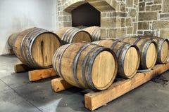 Barili in vino Fotografia Stock Libera da Diritti