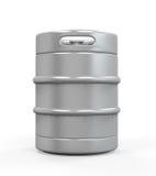 Barillet de bière en métal Photographie stock libre de droits