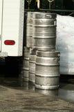 Barillets de bière Photographie stock libre de droits