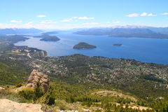 Bariloche city viewed from the top Royalty Free Stock Photography