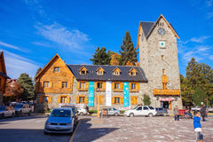 The Bariloche Civic Centre. BARILOCHE, ARGENTINA - APRIL 27, 2016: Bariloche Civic Centre (El Centro Civico) in the centre of Bariloche, Patagonia region in Royalty Free Stock Images