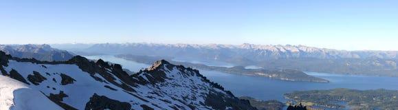 Bariloche en de bergen Royalty-vrije Stock Foto's