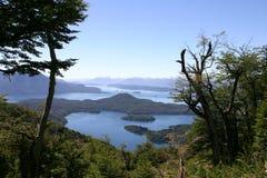Bariloche et les montagnes Photographie stock