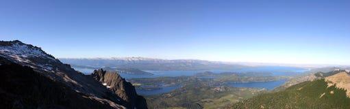 Bariloche et les montagnes Images stock