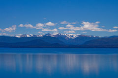 Bariloche Lake. The view of the lake and Mountains in Bariloche Argentina Royalty Free Stock Photos