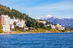 Bariloche landscape in Argentina. Bariloche city and Nahuel Huapi Lake in Patagonia region of Argentina Royalty Free Stock Image