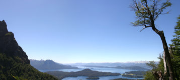 Bariloche and the mountains royalty free stock photo