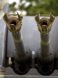 Barilotti antiaerei del serbatoio Immagine Stock