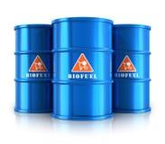 Barilotti blu del combustibile biologico illustrazione di stock
