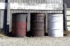 Barilotti dei rifiuti Fotografie Stock