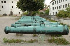 Barilotti del cannone ornati oggetto d'antiquariato Fotografia Stock Libera da Diritti