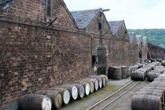 Barilotti del whisky, Scozia Fotografie Stock