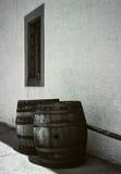 Barilotti della quercia del vino in Svizzera Fotografia Stock Libera da Diritti